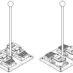 DGX500 Dual Pedal Foot Switch (No Guards) SSC Controls