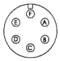 Lincoln 6-Pin TIG Welder Pedal Plug (K870)