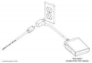 Foot Switch with Piggyback Plug — Connection Diagram